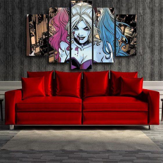 Bloody Scary Daring Harley Quinn Full Print 5 Pcs Canvas