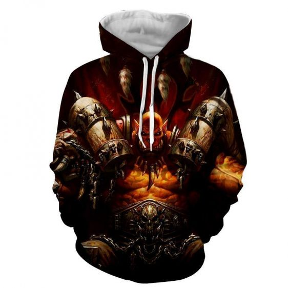 World of Warcraft Garrosh Orc Warlord Cool Game Hoodie