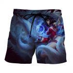 League of Legends Ahri Nine Tails Fox Female Champion 3D Print Shorts - Superheroes Gears