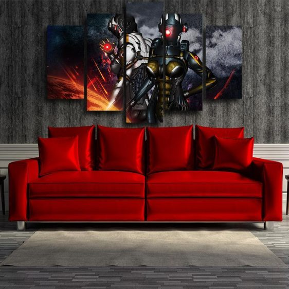 Mass Effect Cerberus Army Battle Armor Comic Style 5pc Wall Art Prints