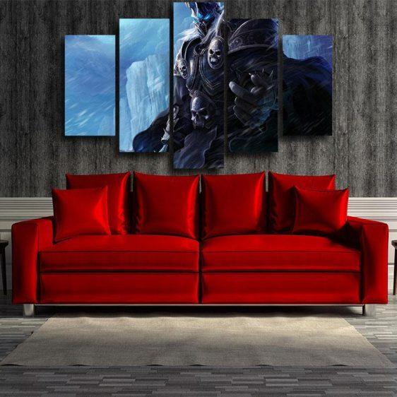 World of Warcraft Arthas Lich King Frozen Throne 5pc Wall Art Prints