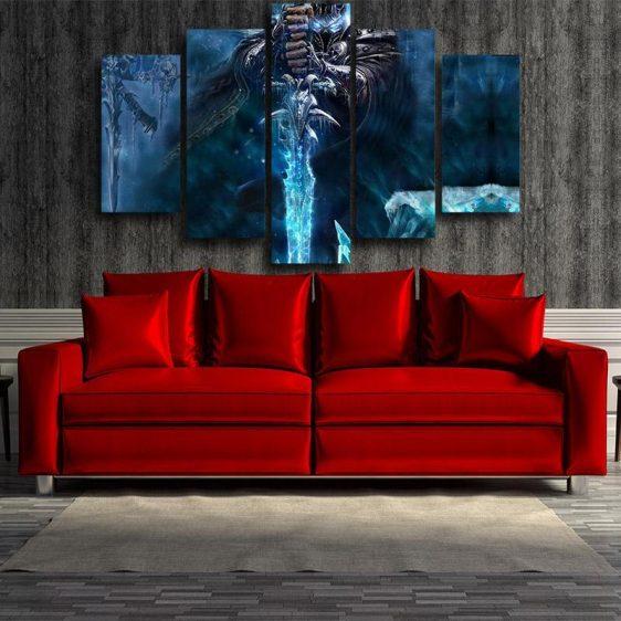 World of Warcraft Frozen Throne Arthas King Dope 5pc Wall Art Prints