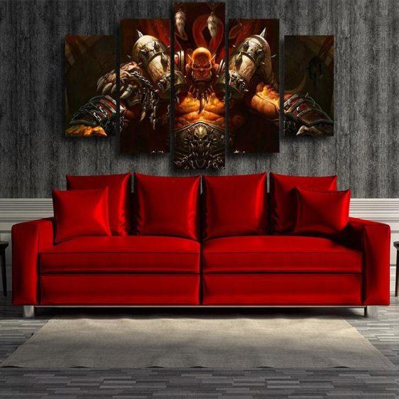 World of Warcraft Garrosh Orc Warlord Cool 5pc Wall Art Canvas Prints