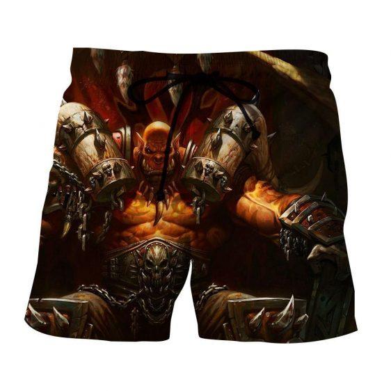 World of Warcraft Garrosh Orc Warlord Cool Gaming Shorts