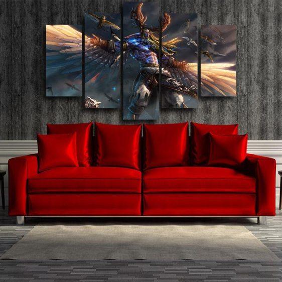 World of Warcraft Malfurion Night Elf Druid Dope 5pc Wall Art Canvas