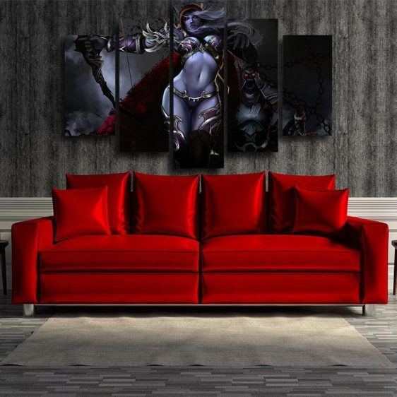World of Warcraft Sylvanas Archer Dope Design Game 5pc Wall Art Prints
