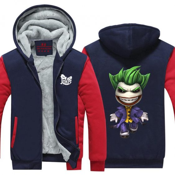 The Joker Villian Cute Chibi Style Cool Hooded Jacket