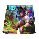 League of Legends Ahri Female Fighter Lively Color Art Style Shorts - Superheroes Gears