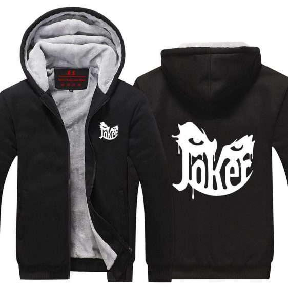 The Joker Name Creative Mask Design Hooded Jacket