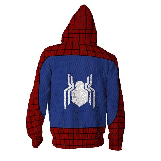 Marvel Spider-Man Super Hero 3D Cosplay Red Zip Up Hoodie