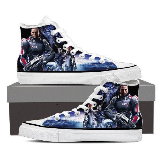 Mass Effect Captain Shepard Dope Converse Sneaker Shoes
