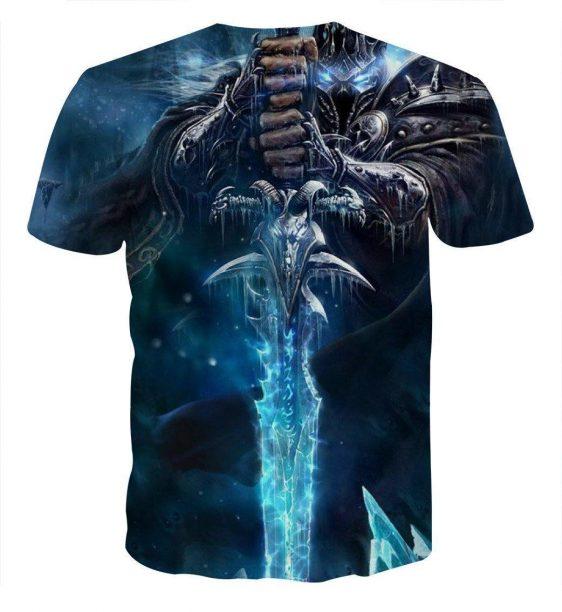 World of Warcraft Arthas Lich King Vibrant Gaming T-Shirt