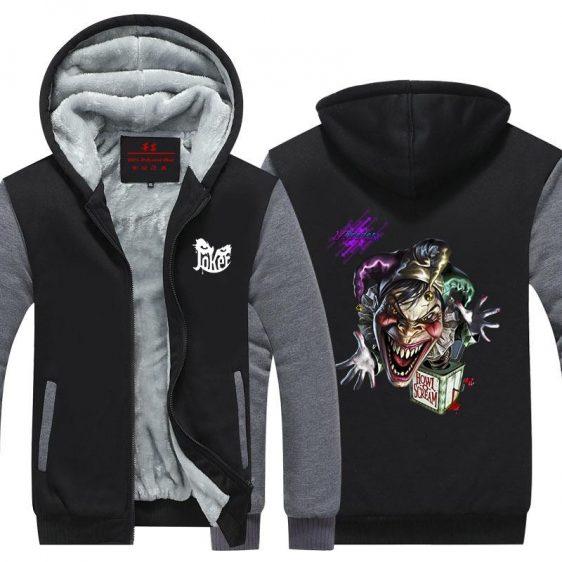 The Joker Howl Scream Box Dope Design Hooded Jacket