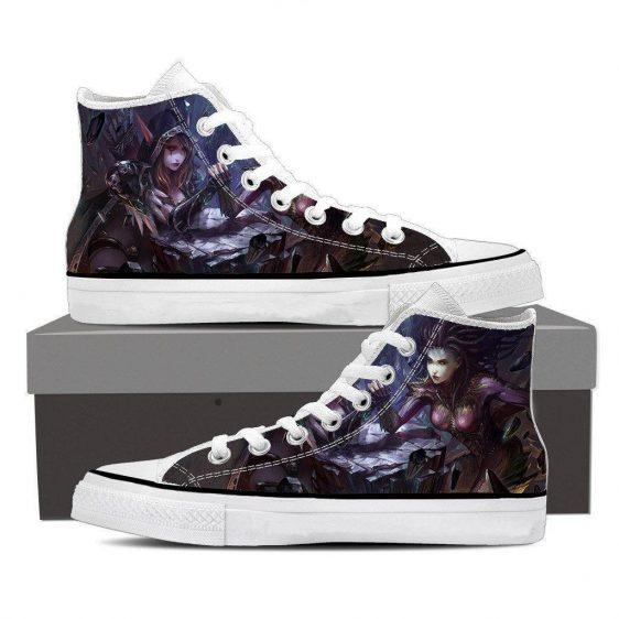 World of Warcraft Sylvanas Fight Zerg Queen Starcraft Converse Shoes