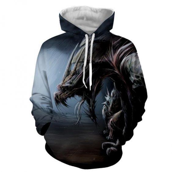 World of Warcraft Dragon Creature Fan Art Design Hoodie