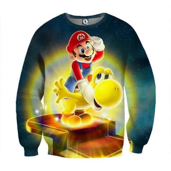 Super Mario Golden Yoshi 3D Design Game Art Dope Sweatshirt