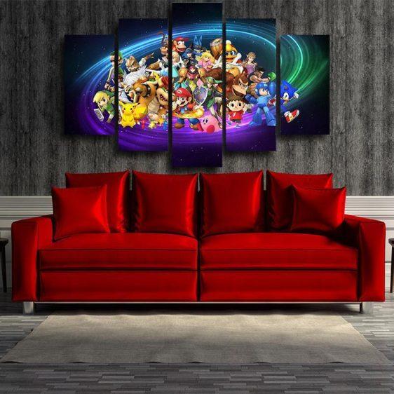 Nintendo Legend Characters 5pc Wall Art Posters Canvas Prints