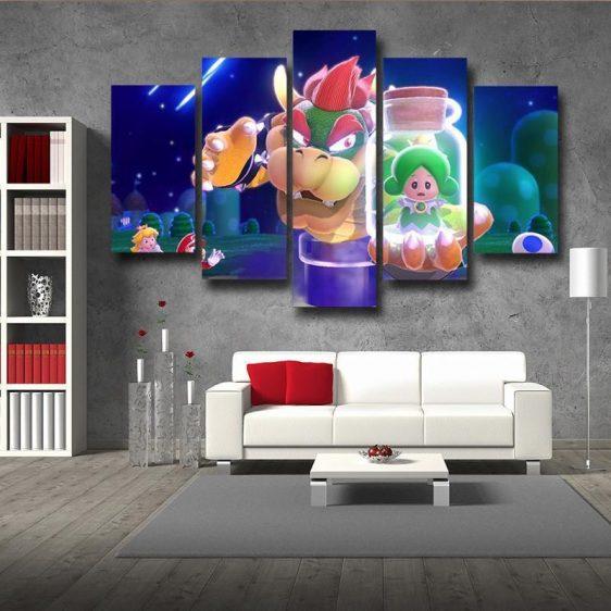 Super Mario King Koopa 5pc Wall Art Decor Posters Canvas Prints