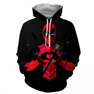 Hilarious Deadpool Love Icon Modern Design 3D Print Hoodie - Superheroes Gears