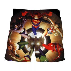 Justice League Superheroes Justice Symbol 3D Print Shorts - Superheroes Gears