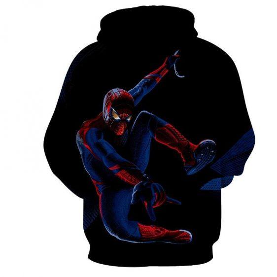 Spiderman Cool Web Shooter Night Time Print Hoodie