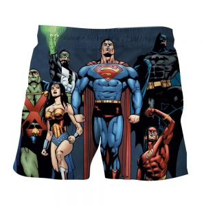 Justice League Superheroes Team Up Full Print Shorts - Superheroes Gears