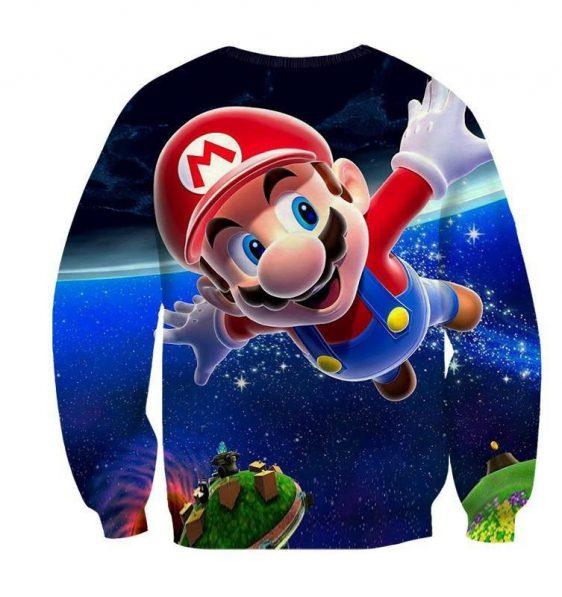 Super Mario Galaxy Awesome 3D Model Full Printed Sweatshirt