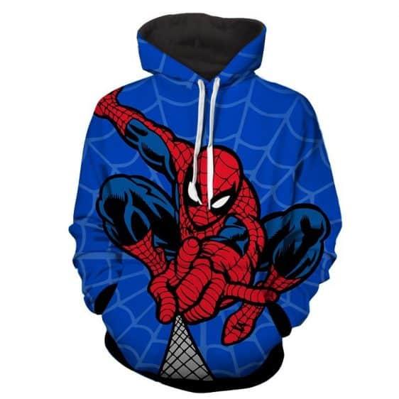 Spiderman Web Shooter Comic Art Print Hoodie
