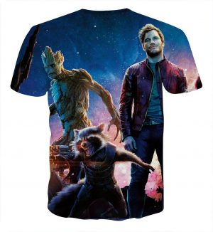 Guardians of the Galaxy Star-Lord Rocket Cool Team Design T-shirt - Superheroes Gears
