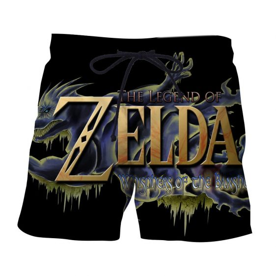 The Legend Of Zelda Stunning Mythtic Symbol Black Shorts
