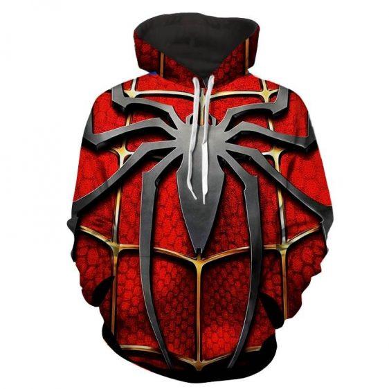 Spiderman Classic Movie Symbol Print Hoodie