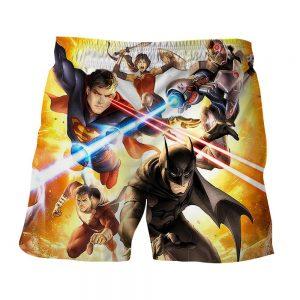 Justice League Super Power Heroes Cool Art Printing Shorts - Superheroes Gears
