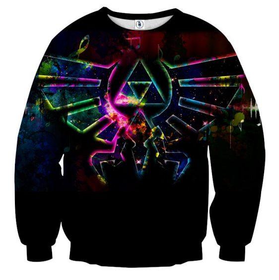 The Legend Of Zelda Impressive Phoenix Symbol Black Sweater