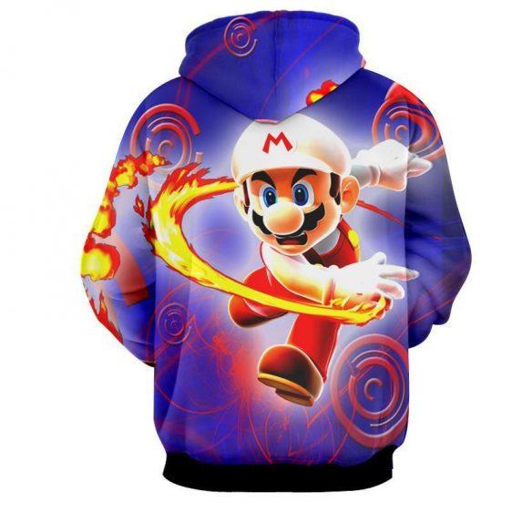 Super Mario Fire Flower Upgrade Urban Wear Style Hoodie