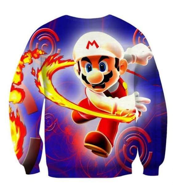 Super Mario Fire Flower Upgrade Urban Wear Style Sweatshirt