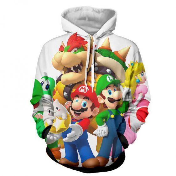 Super Mario Bros Luigi Bowser Peach Princess Dope Hoodie