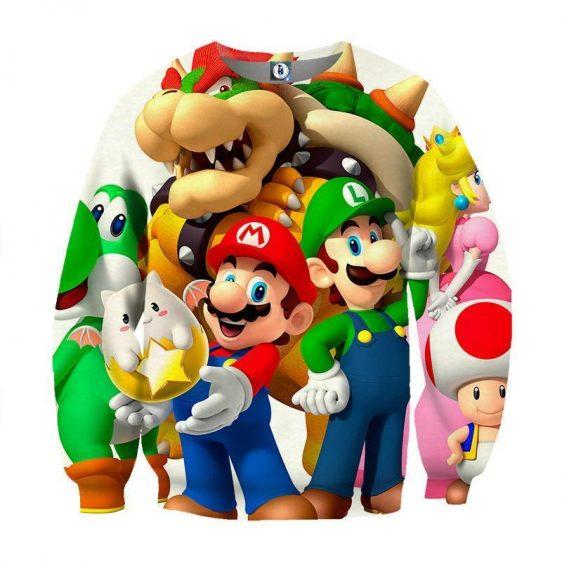 Super Mario Bros Luigi Bowser Peach Princess Dope Sweatshirt