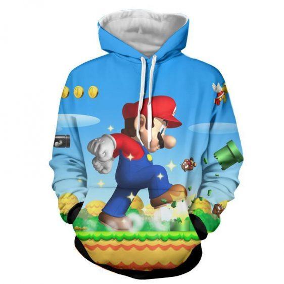 Super Mario Mega Mushroom Upgrade Giant Awesome Gaming Hoodie