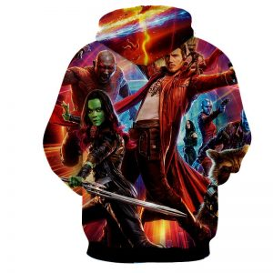 Guardians of the Galaxy Star-Lord Gamora Perfect Team Cool Hoodie - Superheroes Gears