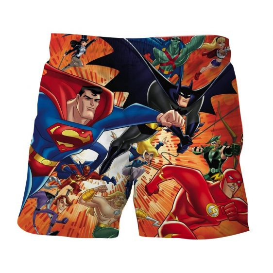 Justice League DC Awesome Superheroes Team 3D Printed Shorts - Superheroes Gears