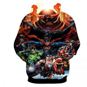 Justice League DC Comics Superheroes Team Awesome 3D Print Hoodie - Superheroes Gears