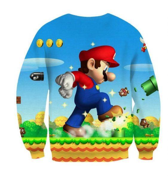 Super Mario Mega Mushroom Upgrade Giant Gaming Sweatshirt