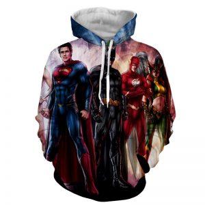 Justice League Heroes Cool Fan Art Design Full Print Hoodie - Superheroes Gears