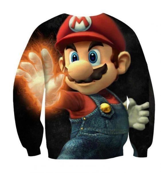 Super Mario Fire Gloves Iconic Posture Cool Design Sweatshirt