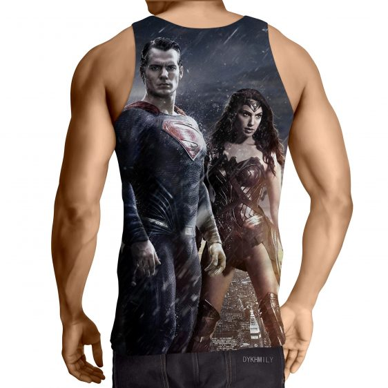 Dawn Of Justice Superman And Wonder Woman Cool Style Tank Top - Superheroes Gears