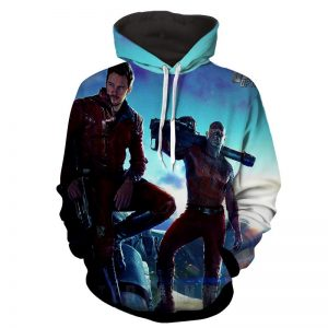 Guardians of the Galaxy Star-Lord Drax Cool Standing Design Hoodie - Superheroes Gears