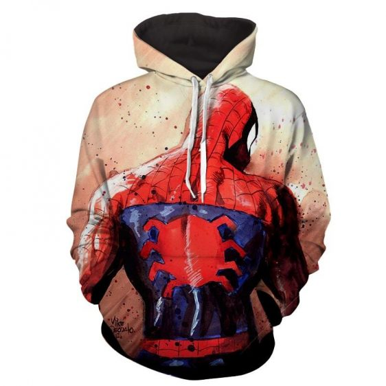Spiderman Classic Symbol Backside Full Print Vibrant Hoodie