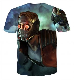 Guardians of the Galaxy Star-Lord Gear Up Awesome Design T-shirt - Superheroes Gears