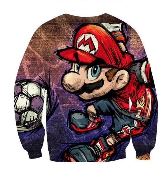 Super Mario Cartoon Sketch Cool Hip-Hop Design Sweatshirt