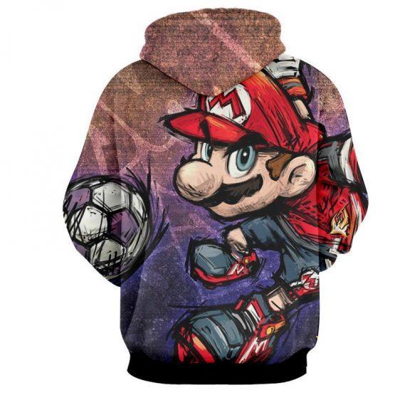 Super Mario Cartoon Sketch Cool Hip-Hop Style Design Hoodie